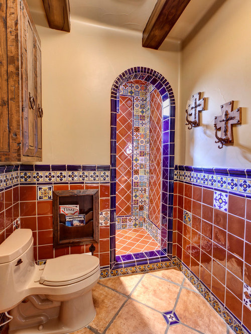 Mexican tile bathroom home design ideas pictures remodel for Bathroom in spanish