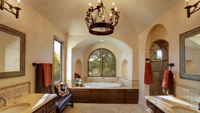 Mediterranean Bathroom by Geschke Group Architecture
