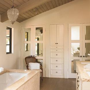 Bathroom - mediterranean bathroom idea in Los Angeles with white walls