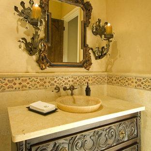 Mediterranean bathroom in Dallas.