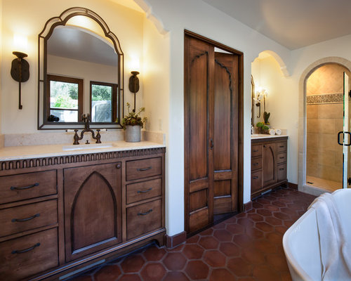 bathroom wood flooring mediterranean bathroom design ideas renovations amp photos 11973