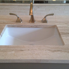 Transitional Bathroom by AG&M (Architectural Granite & Marble)