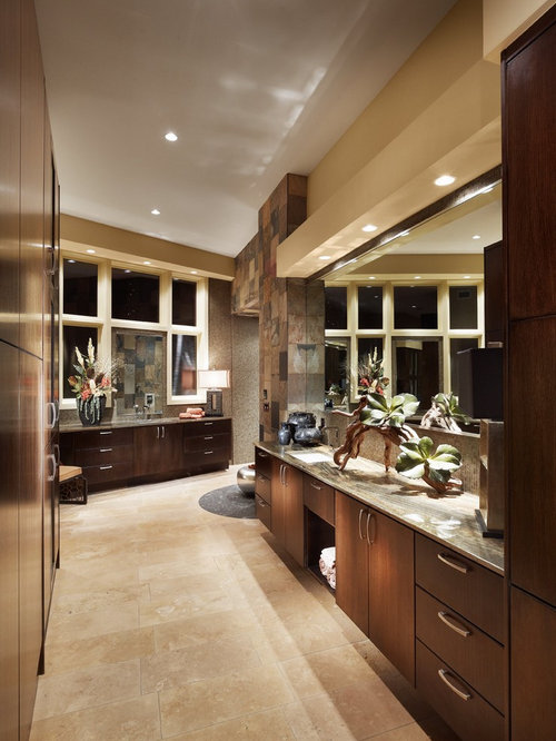 Warm earth tone master suite houzz for Bathroom ideas earth tones