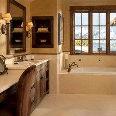 Rustic Bathroom by Elizabeth Robb Interiors