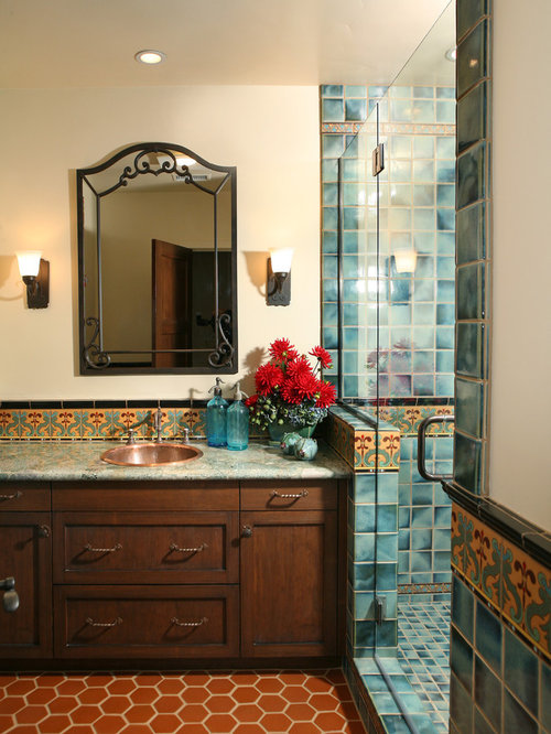 Image gallery spanish bathroom for Spanish colonial bathroom design