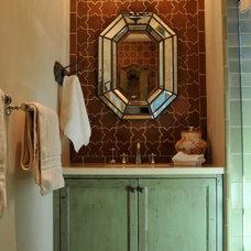 Traditional Bathroom by Melanie Giolitti Interior Design