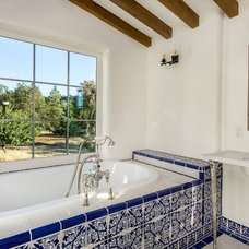 Mediterranean Bathroom by TDM Tiling