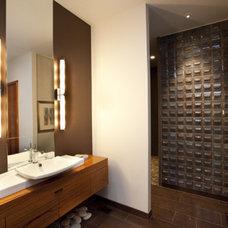 Asian Bathroom by Amelie de Gaulle Interiors