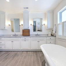 Transitional Bathroom by Sage Homes LLC