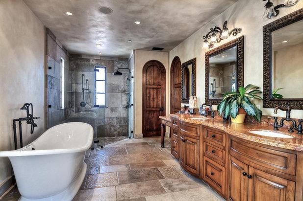 Mediterranean Bathroom by Glover + Graham Design Collective