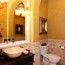 Mediterranean Bathroom by McMurrey Builders