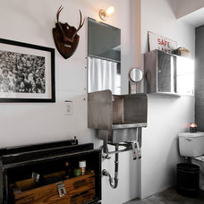 Industrial Bathroom by Lucy Call