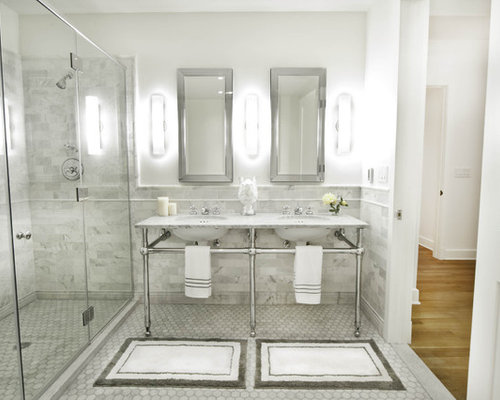 silver bathroom mirror houzz