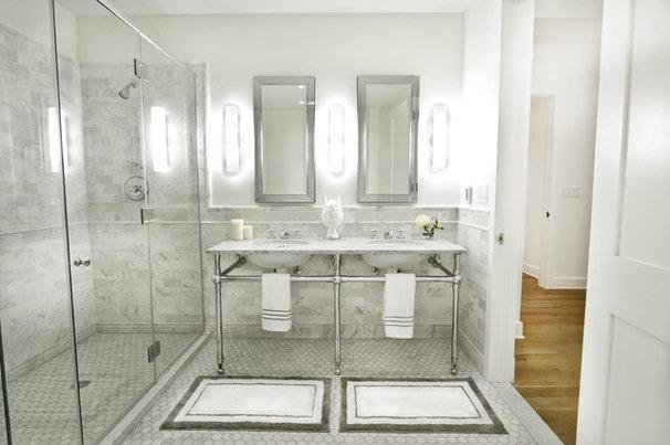 Traditional Bathroom by Marie Burgos Design