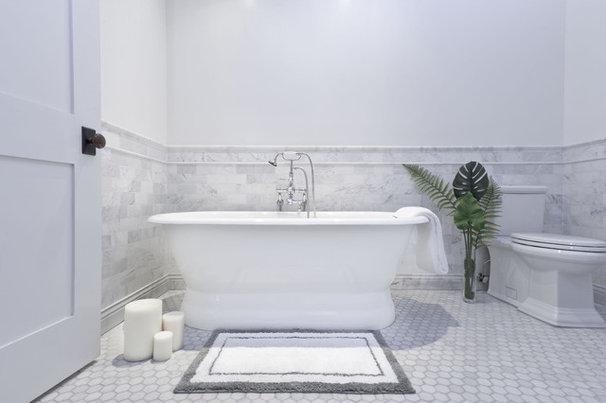 Industrial Bathroom by Marie Burgos Design