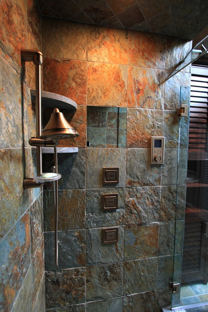 Eclectic Bathroom by Heartwood Corp