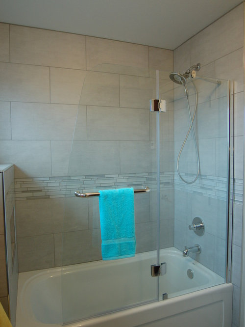 40 Luxury Tub Shower Combo With Glass Tile Design Ideas Remodel Picture