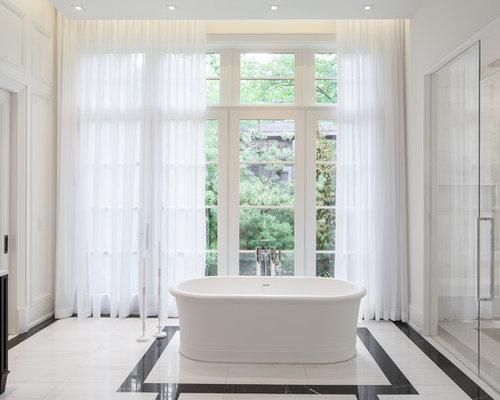 habillage de fen tre de salle de bain photos et id es d co. Black Bedroom Furniture Sets. Home Design Ideas