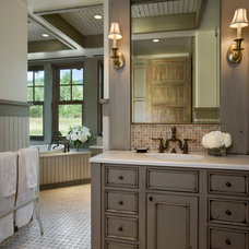 Farmhouse Bathroom by Locati Architects