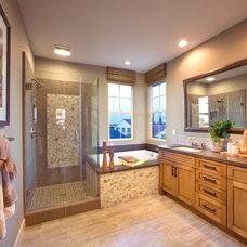 Farmhouse Bathroom by Danielian Associates Architecture + Planning