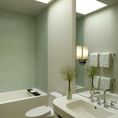 modern bathroom by Upscale Construction