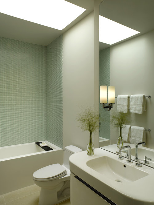 Example Of A Trendy Mosaic Tile Bathroom Design In San Francisco