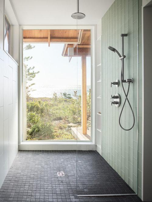 Foto e idee per bagni bagno con pavimento in ardesia - Bagno in ardesia ...