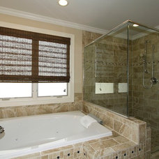 Transitional Bathroom by Rosseland Construction,  Inc