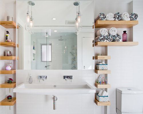 Bathroom shelves houzz for Bathroom storage design ideas