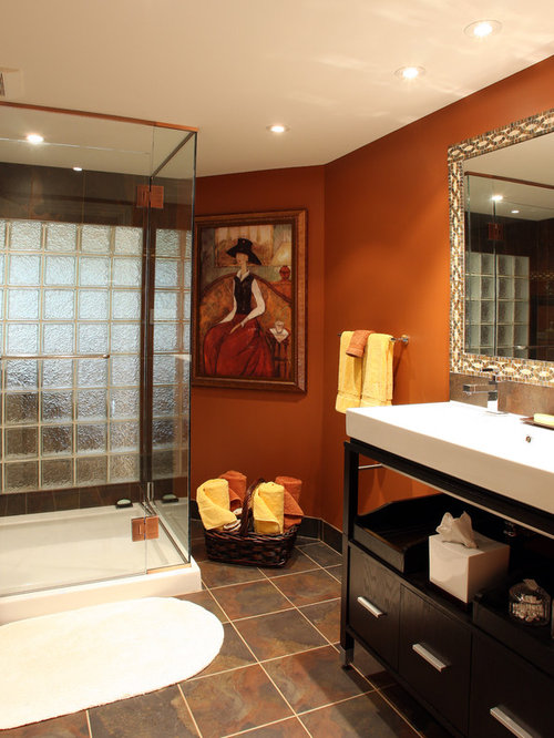 Burnt Orange Walls Home Design Ideas Pictures Remodel