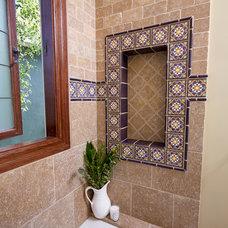 Mediterranean Bathroom by Courtney Heaton
