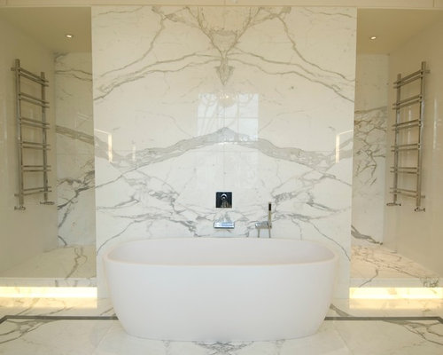 Marble Bathroom on transitional office design