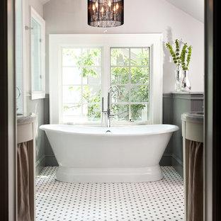 Freestanding bathtub - traditional freestanding bathtub idea in Atlanta