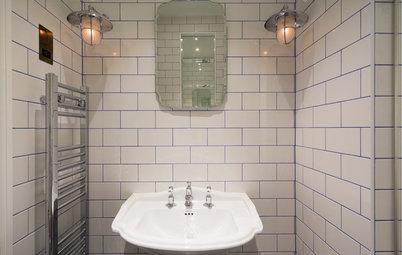 Vem säger att vitt kakel gör ett badrum tråkigt?