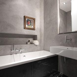 Bagno con stucco veneziano foto e idee houzz - Stucco veneziano in bagno ...
