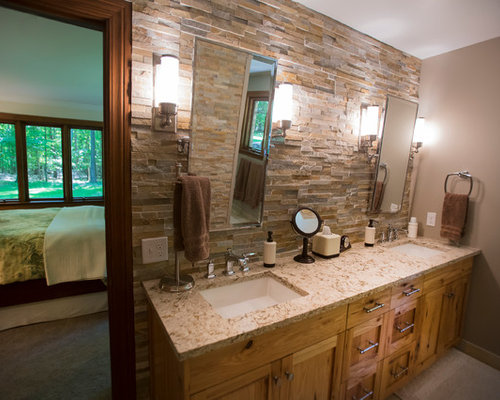 stacked stone master bathroom midland mi