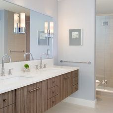 Beach Style Bathroom by Marcye Philbrook