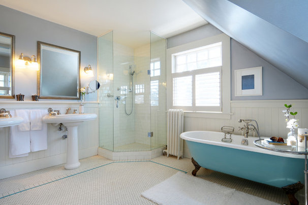 Traditional Bathroom by Lifeseven Photography