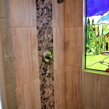 Stained glass bath remodel