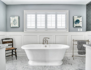 Stand Alone Tub is a Statement Piece in this Master