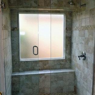 Inspiration for a modern bathroom remodel in Dallas