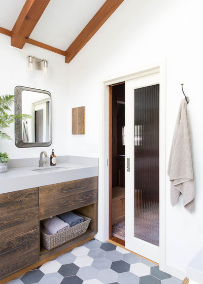 Transitional Bathroom by Marci Goulart Interior Design