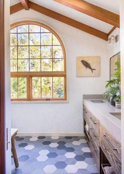 Transitional Bathroom by Marci Goulart Interior Design