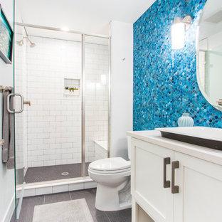 Peachy White Subway Tile Bathroom Ideas Houzz Download Free Architecture Designs Scobabritishbridgeorg