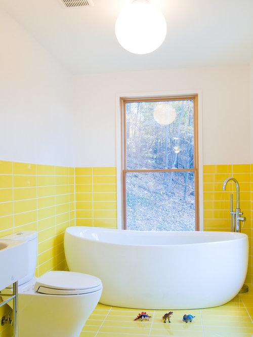 small yellow bathroom design ideas renovations photos