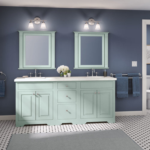StarMark Cabinetry Traditional Inset Bath Cabinets In Crystal Fog Adorable Inset Bathroom Cabinets Interior