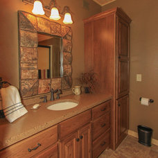 Traditional Bathroom by Real Log Homes
