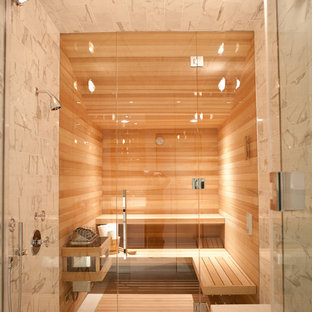 Inspiration for a contemporary bathroom in San Francisco with with a sauna.