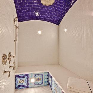 Elegant alcove shower photo in Denver