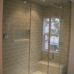 modern bathroom by Algami Glass Doors